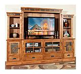Rustic Oak Entertainment Wall