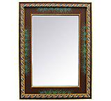 Rectangular Agave Mirror
