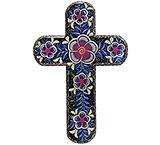 Cross by Alicia Lopez: Black w/Purple Flowers