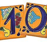 House Numbers: Orange Talavera