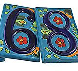 House Numbers: Blue Talavera