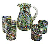 Color Swirl Glassware