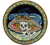 Day of the Dead XL Majolica Platter