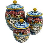 Oval Day of the Dead Kitchen Canister