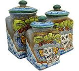 Day of the DeadSquare Kitchen Canister