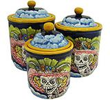 Round Day of the Dead Kitchen Canister