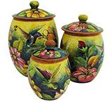 Oval HummingbirdKitchen Canister