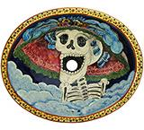 Day of the Dead Majolica Sink