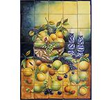 Fruit Basket Majolica Tile Mural