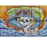 Day of the Dead Majolica Tile Mural