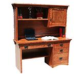 American Mission Oak Student Desk w/ Hutch