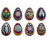 Large  Huichol Egg Ornament
