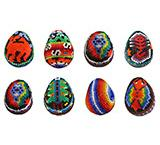 Small Huichol Egg Ornaments
