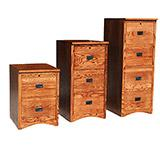 American Mission Oak File Cabinets