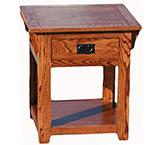 American Mission Oak End Table w/ Shelf & Drawer