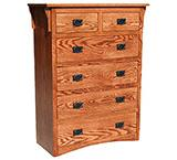 American Mission Oak Six Drawer Dresser