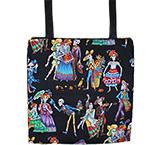 Skeleton Dance Halloween Tote Bag