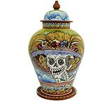 Day of the Dead Large Majolica Ginger Jar