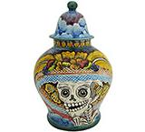 Day of the Dead Small Ginger Jar