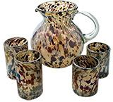 Speckled Umber Glassware