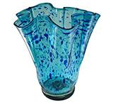 Speckled Cobalt Flower Vase