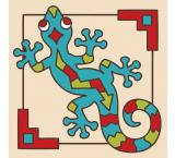 Southwest Gecko Tile Coaster