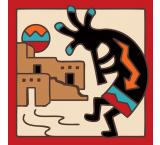 Kokopelli Tile Coaster