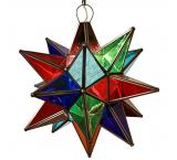 Multicolored Glass Star
