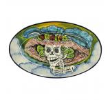 Day of the Dead Majolica Oval Platter