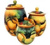 Oval Fruit Kitchen Canister