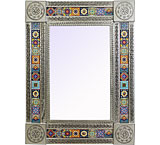 Talavera Tile Mirrorw/ Multi-colored Tiles