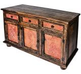 Three-Door Cabinet w/ Copper Doors & Drawers