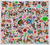 Flora & Fauna Fino Quality Otomi Tapestry