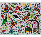 Forest Animals Fino Quality Otomi Tapestry