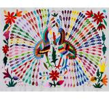 Twin Peacocks Fino Quality Otomi Tapestry