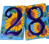 House Numbers: Sunflowers