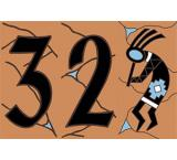 House Numbers:Terracotta & Turquoise