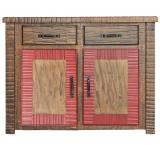 Small New Mexico Cabinet: Red Earth Finish