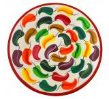 Multicolored Chili Plate