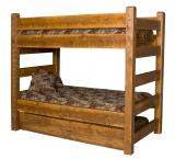 Barnwood Bunk Bed w/ Trundle