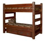 Barnwood Bunk Bed w/ Drawers