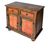 Two-Door Cabinet w/ Copper Doors & Drawers