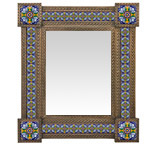 Talavera Tile Mirrorw/ Tile Corners