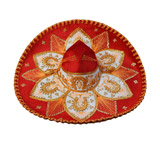 Red & Gold Charro Sombrero