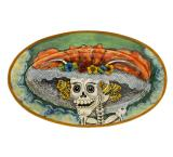 Oval Day of the Dead Platter