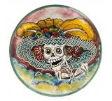 Day of the Dead Medium Majolica Plate