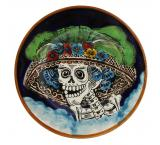 Day of the Dead Small Majolica Plate
