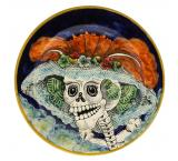Day of the Dead Large Majolica Platter