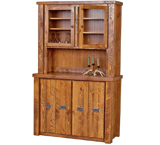 Barnwood Buffet & Hutch