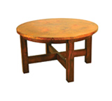 Round Country Dining Table